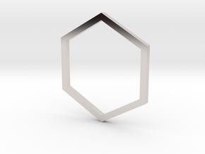 Hexagon 13.61mm in Platinum