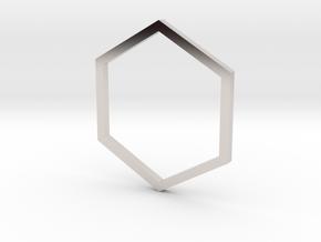 Hexagon 14.36mm in Platinum