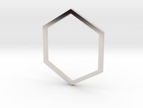 Hexagon 16.00mm in Platinum