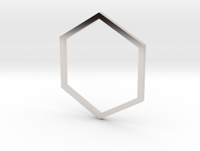 Hexagon 16.51mm in Platinum