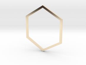 Hexagon 18.89mm in 14K Yellow Gold