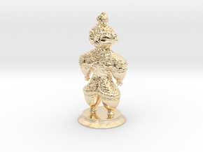 Dogū statue in 14K Yellow Gold