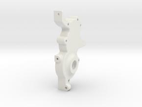 TRF201/211 3 Gear Laydown Left Hand Gearcase  in White Natural Versatile Plastic