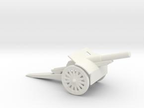 canon de 105mm 1/72  in White Natural Versatile Plastic