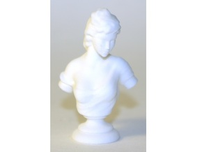 1:18 Scale Marble Bust Statue (Human Female) in White Natural Versatile Plastic