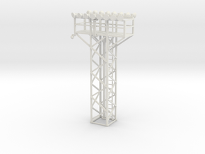 Light Tower Top With Double Light Assembly 1-87 HO in White Natural Versatile Plastic
