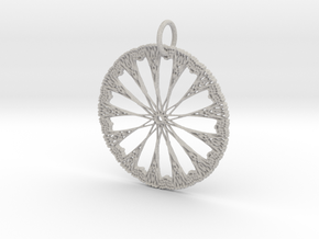 Celtic Circle Star Pendant in Natural Full Color Sandstone: Large