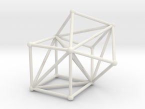 Goldner-Harary graph in White Natural Versatile Plastic: Large