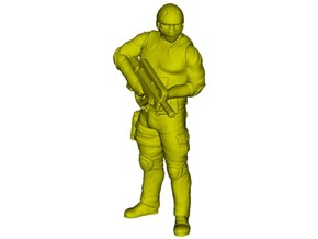 1/72 scale SpecOps operator soldier figure x 1 in Smoothest Fine Detail Plastic