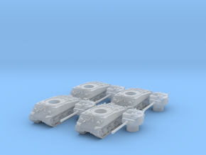 M4A3 76 Sharman division (4 pieces) scale 1/160 in Smooth Fine Detail Plastic