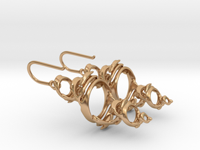 Julia Earrings in Polished Bronze
