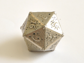 D20 Balanced - Constellations in Polished Bronzed Silver Steel