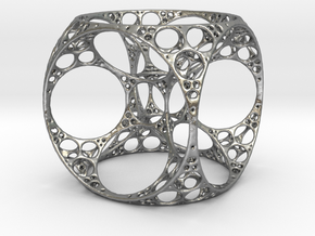 Apollonian Cube Small in Natural Silver