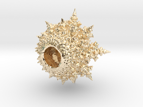 Amazing Fractal Bulb - mini in 14k Gold Plated Brass