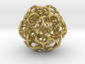 Ball 20 in Natural Brass (Interlocking Parts): 6mm
