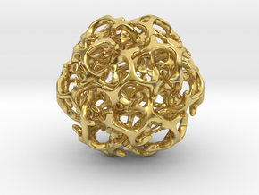 Ball 20 in Polished Brass (Interlocking Parts): 6mm