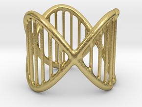 Ring 17 in Natural Brass (Interlocking Parts)