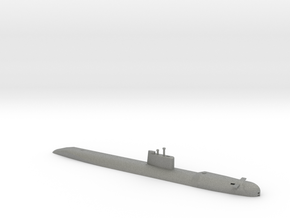1/1250 Scale USSR Tango Class Submarine Waterline in Gray PA12