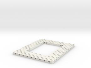 Hedgehog Platte in White Natural Versatile Plastic