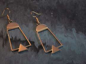 Alina Earrings in Polished Brass