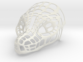 Mask: Dragon Head in White Natural Versatile Plastic