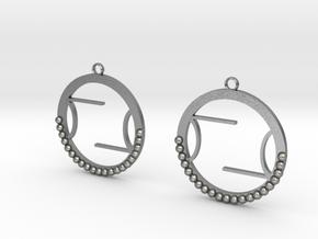 Wright Hoop Earrings in Natural Silver