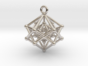 Introspection Pendant in Rhodium Plated Brass