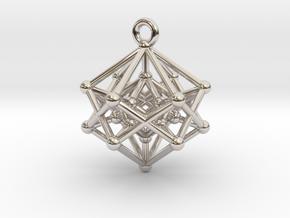 Introspection Pendant in Rhodium Plated Brass