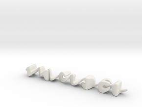 3dWordFlip: masa/sama in White Natural Versatile Plastic
