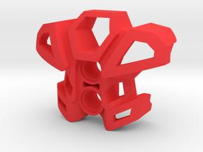 Exatoran Chest Armor 2 in Red Processed Versatile Plastic