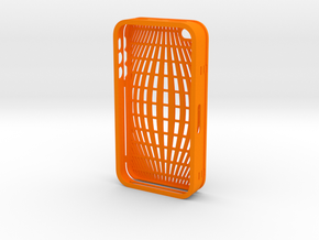 IPHONE_4S_COVER_2 PART_COMBINED_DESIGN_1 in Orange Processed Versatile Plastic