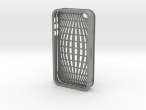 IPHONE_4S_COVER_2 PART_COMBINED_DESIGN_1 in Gray Professional Plastic