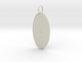 Sun Disc Pendant in Glossy Full Color Sandstone: Large