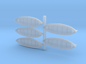 350th scale 26 ft Lifeboats in Smooth Fine Detail Plastic
