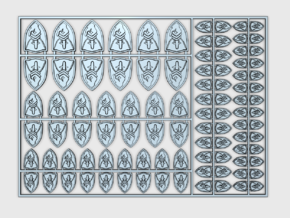 Lords of Silence - Flat Vehicle Insignia pack in Smooth Fine Detail Plastic
