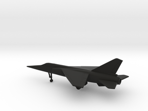 Dassault Mirage F1 in Black Natural Versatile Plastic: 1:200