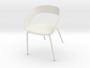 Printle Thing Chair 03- 1/24 in White Natural Versatile Plastic