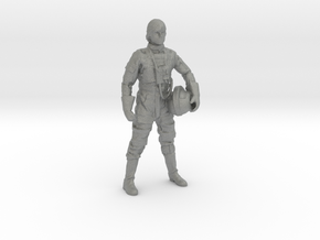 Standing Pilot 1/24 Scale for Studio Scale X-Wing  in Gray Professional Plastic