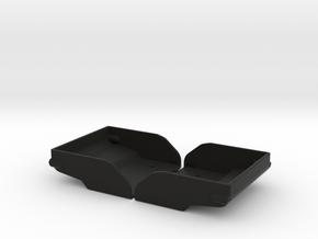RC8B3.1 Wing Splitter, tall (2pcs) in Black Natural Versatile Plastic