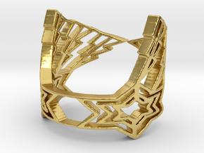 LightningStar Ring in Polished Brass: 6 / 51.5