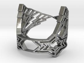 LightningStar Ring in Natural Silver: 6 / 51.5