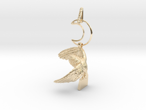 Owl Familiar - Pendant - West Coast Witch in 14k Gold Plated Brass