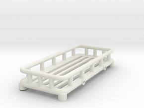 12th Scale Overland Roof Rack in White Natural Versatile Plastic