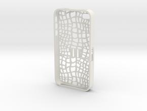 iphone4s_two_part_Aligator in White Natural Versatile Plastic