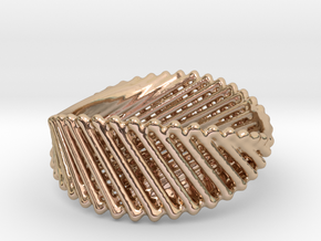 Ring 21 in 14k Rose Gold Plated Brass