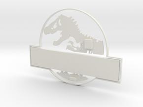 Version 2 Jurassic World Nametag White Pieces in White Natural Versatile Plastic