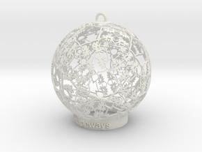 Flower Kaleidoscope Ornament in White Natural Versatile Plastic