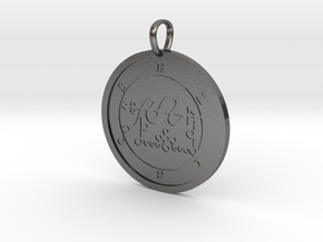 Eligos Medallion in Polished Nickel Steel