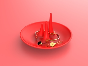 Orion Jewelry Holder in Red Processed Versatile Plastic