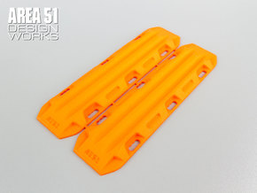 12th Scale Sand Ladders (2pcs) in Orange Processed Versatile Plastic